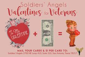 soldiers send our troops and veterans valentines this