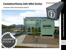 shipping container house plan presentation book 4 by