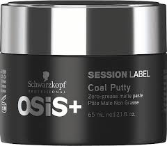 black label hair products schwarzkopf professional osis session label coal putty