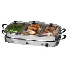 Stainless Steel Buffet Trays by Elite Platinum Stainless Steel Deluxe 3 X 2 5 Quart Electric