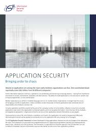 application security bringing order to chaos information