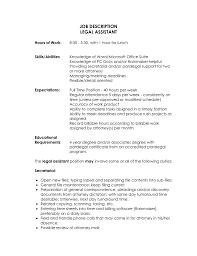 Waitress Job Duties Resume by Job Secretary Job Description For Resume