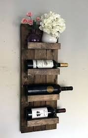 wine rack rustic wood wall mount wine rack diy wood wall mounted