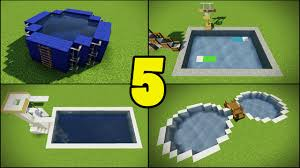 Pool Design Software Top 5 Swimming Pool Designs In Minecraft Youtube