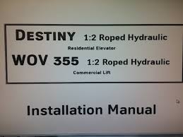 nwov destiny hydro packet wiring and installation manuals