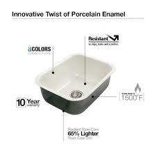 Enamel Sinks Kitchen Houzer Pcs 2500 Wh Porcela Series Porcelain Enamel Steel