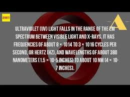 What Is Uv Light What Is The Frequency Of Ultraviolet Light Youtube