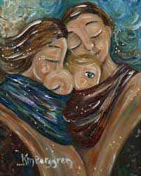 painting intimate moments of motherhood free cards friday