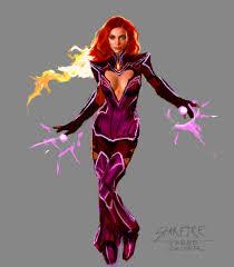 Starfire Costume Artstation Starfire Redesign Jared Calder