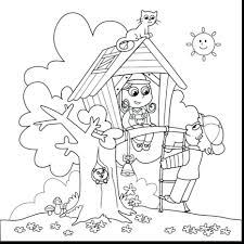 summer coloring pages free printables spring tree house toddlers