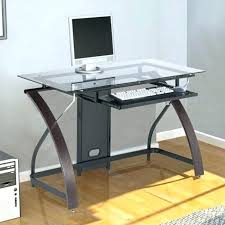Small Glass Computer Desk Glass Computer Desks For Small Spaces Office Desk Home