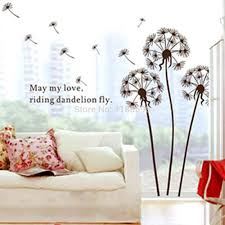 stickers 3 picture more detailed picture about new arrival new arrival removable english proverb brown dandelion wall sticker rooms wall stickers home decor wall decals