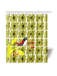 Bird Shower Curtains Mid Century Modern Bird Shower Curtain Original Design Kayci