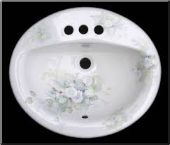 hand painted bathroom sinks bathroom pinterest paint