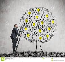 tree with light bulbs stock vector image of leaves grow 17038494