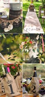 burlap decorations for wedding wedding decorations and ideas