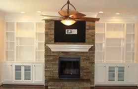 built in cabinets around fireplace interior design
