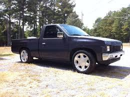 lowered nissan hardbody lowered hardbody with gmc rims trucks pinterest