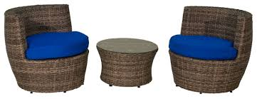 Outdoor Furniture 3 Piece by Aura Outdoor Products Sunbrella 3 Piece Seating Group With