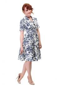 collectif vintage janet toile floral shirt dress collectif