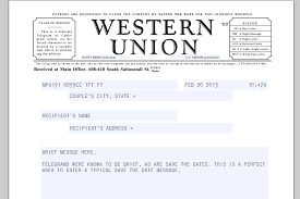free wedding printable telegram save the date template