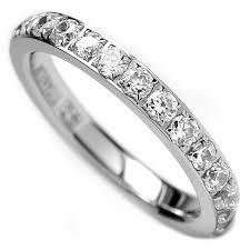 titanium wedding rings uk 3mm titanium eternity engagement band wedding ring with