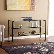 Sofa Console Table Harper Blvd Distressed Black Metal And Glass 3 Tier Sofa Console