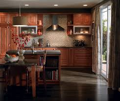 cherry cabinets in casual kitchen diamond cabinetry