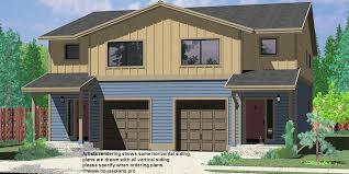 narrow lot duplex house plans and zero line row lots triplex modern