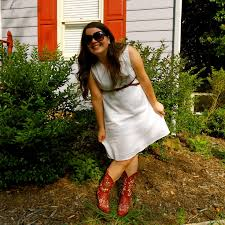what to wear to a backyard bbq why a dress boots of course
