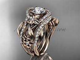 leaf and vine engagement ring anjaysdesigns collection