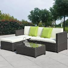 Wicker Rattan Patio Furniture - outdoor patio wicker sofa set 5pc pe rattan rushreed 3 piece