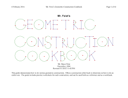 Midpoint Of A Line Segment Worksheet Construction Cookbook
