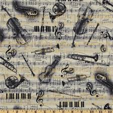 jazz home decor all that jazz musical montage grey from fabricdotcom designed by
