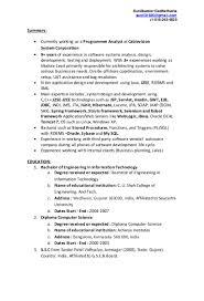 Emt B Resume Java J2ee Resume Resume For Your Job Application