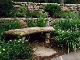 Natural Stone Benches Garden Art Land Art Design