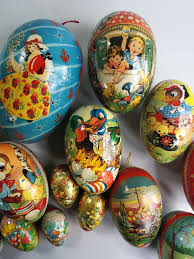 paper mache easter eggs 19 pieces of paper mache easter eggs candy containers