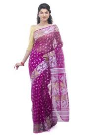 dhakai jamdani exclusive magenta dhakai jamdani saree from bangladesh