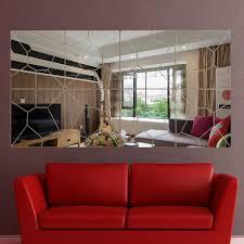 56pcs diy broken mirror home decoration fashion 3d mirror surface