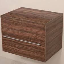 Wall Mounted Bathroom Storage Units Aspen 750 Wall Mounted Walnut Cabinet With Artisan Basin The
