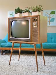 1950 u0027s zenith tv black and white tapered legs mid century