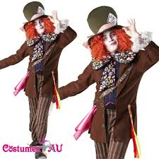alice in wonderland mad hatter mens fancy dress halloween