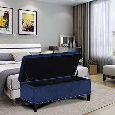 adeco lightweight tufted rectangular fabric lift top storage
