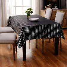 black and white dots tablecloth dining table cover set rectanglar