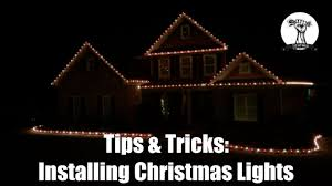 How To Hang Christmas Lights by Installing Christmas Lights On Your Roof Line And House Youtube