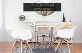 Diy White Dining Room Table Diy Hexagonal Dining Table Hello Lidy