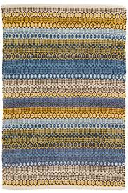 gypsy stripe denim yellow woven cotton rug dash u0026 albert
