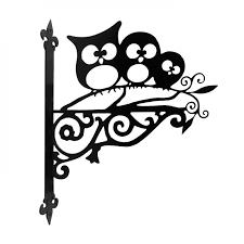 owl ornamental bracket