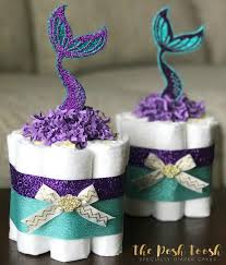 mermaid baby shower mermaid cake baby shower decor centerpiece present purple