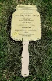jar wedding programs jar paddle fan wedding program set of 25 choose your